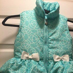 Other - Girls aqua blue puffer vest